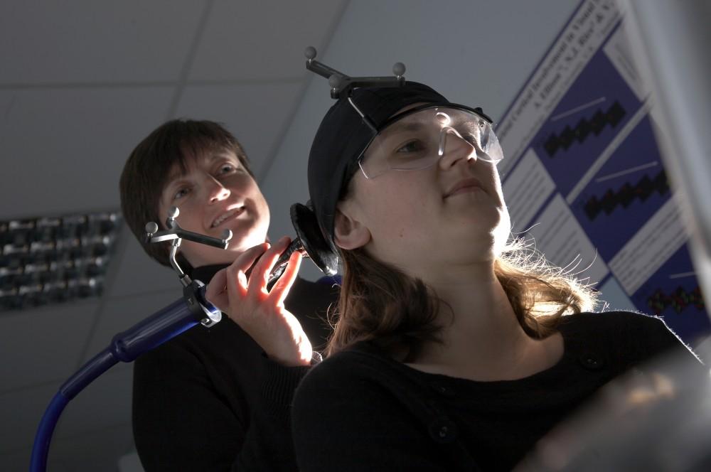 Person undergoing neurostimulation