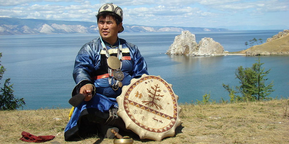 Photograph of a Buryat shaman