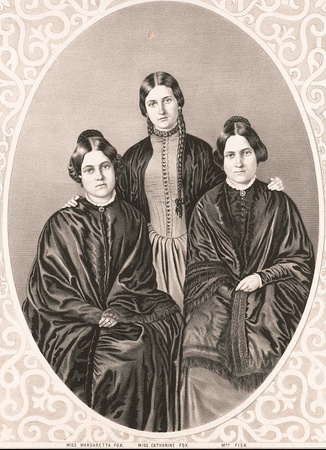 Photograph of the Fox sisters