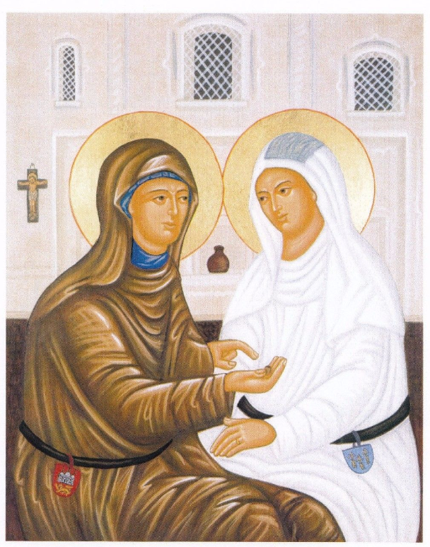 Margery Kempe visits Julian of Norwich (icon)