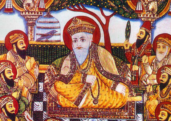 Late nineteenth-century painting of Guru Nanak